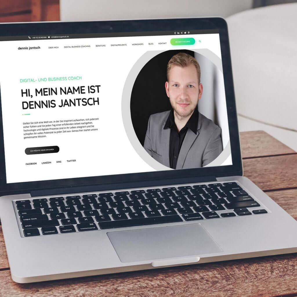 Über mich - Dennis Jantsch Mockup Website